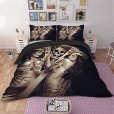 King Skull Queen Beauty Duvet Cover Twin/Full/Queen/King Pillowcase Bedding Set