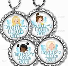 """Daddy's Little Girl Angel Bottle Cap Necklace 24"""" Chain Kids Bottle Cap Jewelry"""