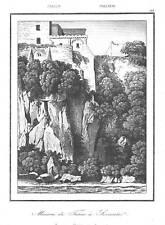 ITALIEN - SORRENT - MAISON DU TASSE - STAHLSTICH - 1840