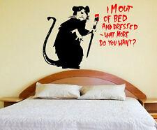 Moderno Designer ART Banksy sono fuori dal letto Adesivi da parete in vinile alta qualità NUOVO