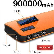 3USB Universal Power Bank 900000mAh LED Portable External Battery Charger
