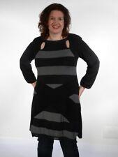 -30% Mat robe tunique en XXL Taille 44 46 48, noir anthra Sexy Look Neuf