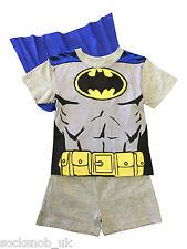 Novedad Chicos Batman Pijama Pantalón corto Con Capa Todas Las Edades (Gris)
