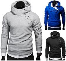 G.B.D. Hoodie cuello alto sudaderas style suéter negro/gris/azul Nuevo