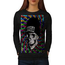 Skull Weed Cannabis Rasta Women Long Sleeve T-shirt NEW   Wellcoda
