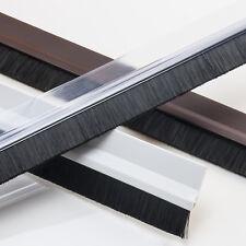 98cm Türbodendichtung Aluminium PVC Dichtungsbürste Transparent Braun Weiß Tür
