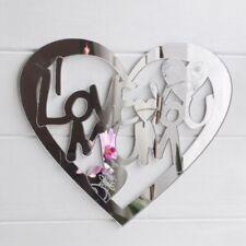 I LOVE YOU MUM Engraved Heart Acrylic Mirror