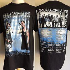 "FLORIDA GEORGIA LINE (2017) ""The Smooth"" Concert Tour Dates T-Shirt Size S/M/L"