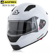 CASCO MODULARE ACERBIS BOX G-348 APRIBILE OMOLOGATO MOTO SCOOTER MONO BIANCO