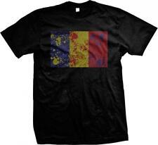 Romania Spatter Flag Rumania Roumania Mandrie Romanian Pride Mens T-shirt