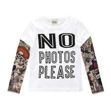 Kinder Baby Jungen Mädchen Long Sleeve T-shirt Cotton Kleidung Tattoo Hip-hop