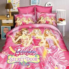 Single/King Single Bed Quilt/Doona/Duvet Cover Set Pillow Case Barbie Princess