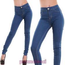 Jeans donna pantaloni skinny slim elasticizzati aderenti cotone nuovi A1238