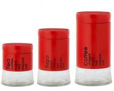 recipientes cristal Almacenamiento Agille Rojo Latas De Reserva Bote Café Té
