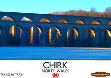 Vintage Poster Chirk Viaduct Aquaduct RETRO Style RAILWAY ADVERTISING ART Print