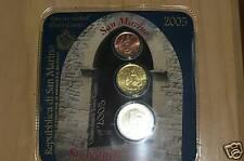 Minikit san marino 2005 2 centavos 20 centavos 2 euros