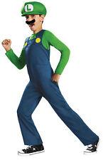 Luigi Classic Child Boys Costume Jumpsuit Hat Mustache Fancy Dress Disguise