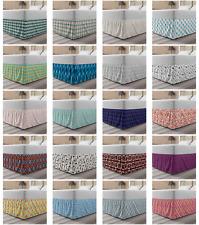 Ambesonne Geometric Modern Bedskirt Elastic Wrap Around Skirt Gathered Design