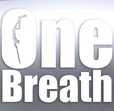 One Breath Spearfishing Diver car boat fishing scuba Vinyl Sticker scuba dive 1