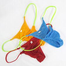 K205 E Mens Micro Pouch Smallest Bikini String Thong Eyelet Sport Tricot