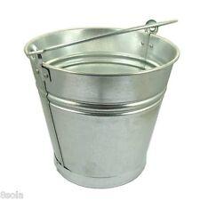 10/12/15L Heavy Duty Galvanised Steel Metal Bucket Water Coal Fire Greenhouse