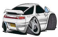 Porsche 928 White Cartoon Car T-shirt GT S4 S S2 SE GTS available sizes S-3XL