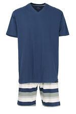 Götzburg Herren Shorty Pyjama kurz V-Neck Klima Aktiv Jersey Gr. 48-58