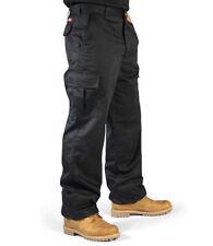 Lee Cooper Hombre Ropa De Trabajo Combate Cargo Pantalones negro lcpnt205