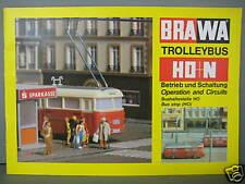 Eheim / Brawa Trolleybus H0+N Anleitung / Ungelesenes Lagerexemplar / Neu!
