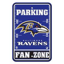 "Baltimore Ravens Fan Zone Parking Sign NEW 12"" x 18"""