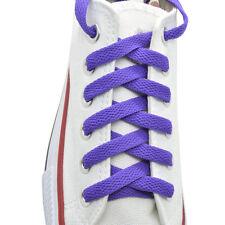 "Flat Shoelace 8 mm ""Purple"" Athletic Sneakers 27"",36"",45"",54"",63"""