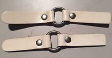 Vintage Coach Built Pram Spares Leather Apron Lift Ring Elastics Marmet Royale