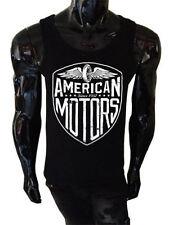 Mens Biker Tank Top American Motors SCREENPRINTED Vest Metal motorcycle usa 66