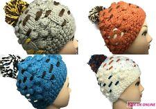 New Thick Chunky Quality Ladies Womens Bobble Pom Pom Beanie Fashion Hat