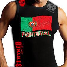 Portugal Flag Crest Muay Thai Muscle Stryker Sleeveless Shirt Top UFC MMA TEE w