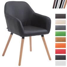 Chaise visiteur ACHAT V2 revêtement en similicuir pied en bois chaise scandinave