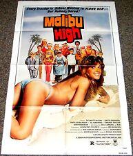 MALIBU HIGH 1979 ORIGINAL 27x41 MOVIE POSTER! SEXY BAD SCHOOLGIRL EXPLOITATION