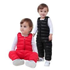 Kids Boys Girl Winter Pramsuit Down Romper Overalls Pants Bodysuit Jumpsuit Warm