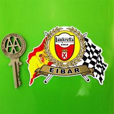 LAMBRETTA EIBAR Garland Shield and crossed Italian and Chequered Flags sticker