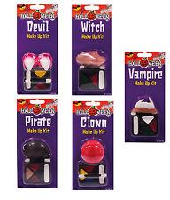 Maquillaje + Cuernos, nriz ,dientes Drácula, BRUJA, Diablo, pirata Carnaval