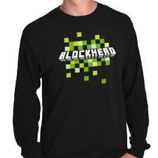 Blockhead Mine Craft PC Gamer Shirt | Nerd Geek Gift Idea PS4 Long Sleeve Tee
