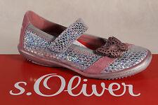 S. Oliver Ballerina argento/rosa, interno in pelle suola nuova!!!