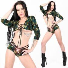 Bolero Top Hotpants Heiss SexY camouflage Grün Army Bont girl Jacke Poaldance