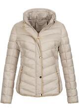 Honey Damen Winterjacke 50161109, Zipper, Kontrastpiping, verst. Kapuze,off weiß
