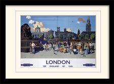 London TURISMO Poster Vintage riproduzione stampe incorniciate su ordinazione-Grande Gamma