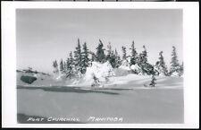 FORT CHURCHILL MANITOBA CANADA Snow Drift Vintage RPPC Postcard Old Real Photo 2