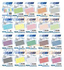 600 X ADESIVI marcatura DOT ROUND Spot Cerchi Puntini Etichette di carta/plastica 8 mm