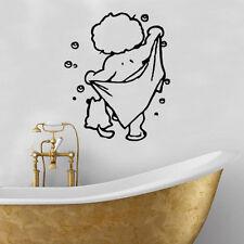 Tutti puliti Decalcomania In Vinile Adesivo parete arte arredamento stanza da bagno