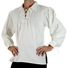 UOMO MEDIEVALE PIRATA camicia maglietta Costume Halloween Gothic Rinascimento