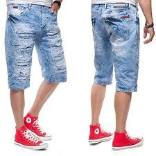 SHELLY Baxx Jeans Uomo Pantaloncini ck116 blu luminoso